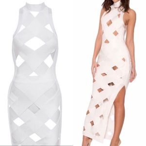 House of CB bandage cage maxi dress with shorties